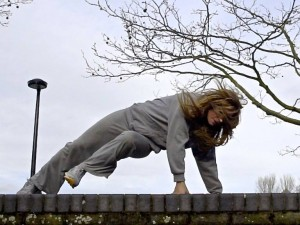 This is my first Parkour class and I feel…..