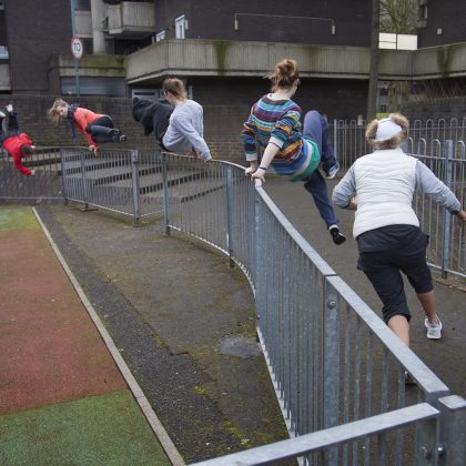 Chris McDougall meets the 'women who are obsessed with Parkour'….